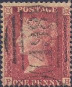 1857 1d Red SG40 Plate 42 'PH'